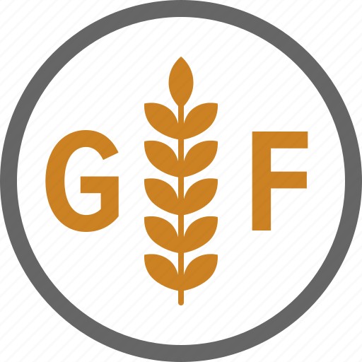 allergy, dietary, food, free, gluten, label, wheat icon
