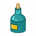 bottle, drink, pirate, rum icon