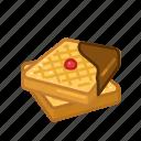 chocolate, dessert, sweet, waffles