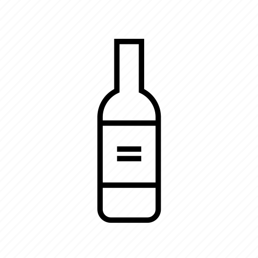 alcohol, alcohol02, and, beverage, drink, food, glass, kitchen, outline, wine icon