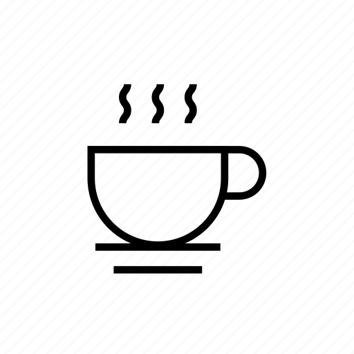 and, coffee, coffee break, cup, drink, food, hot, kitchen, outline icon