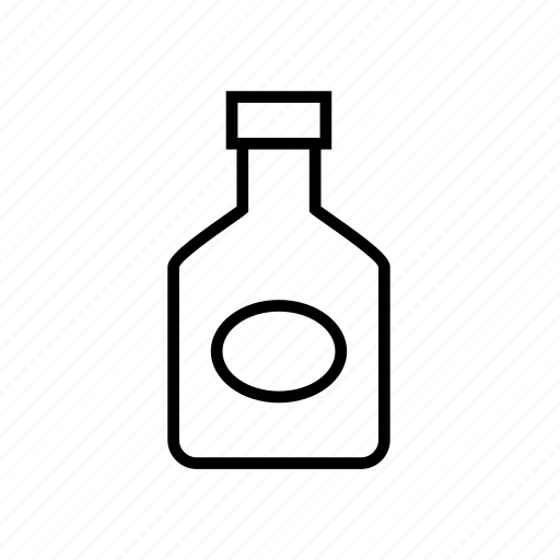 and, bottle, food, ketchup, kitchen, outline, sauce, tomato icon