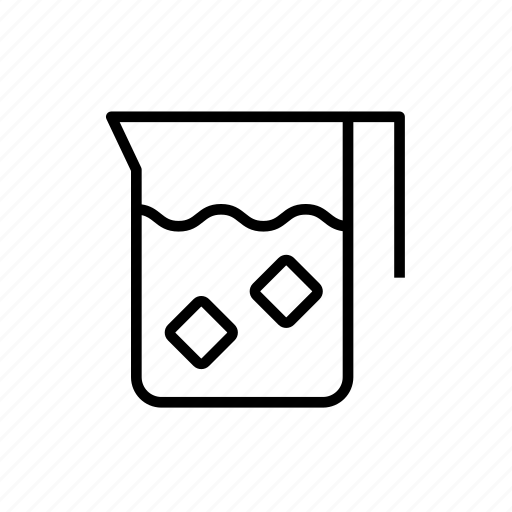 and, beverage, drink, food, jug, kitchen, outline, pitcher, water icon