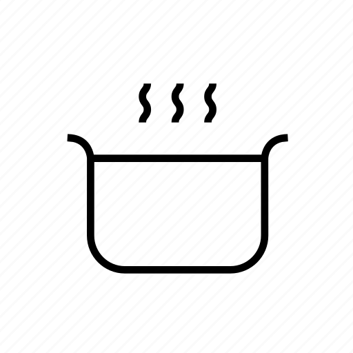 and, cooking, food, kitchen, kitchenware, outline, pot icon