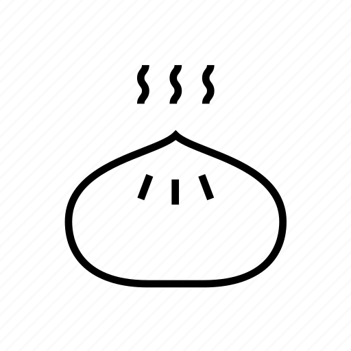 and, chinese food, dumpling, dumpling03, food, kitchen, outline, steam dumpling, steamed, wonton icon
