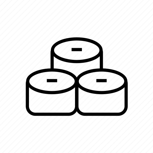 and, food, japan, japanese, kitchen, outline, sushi, sushi roll, sushi02 icon