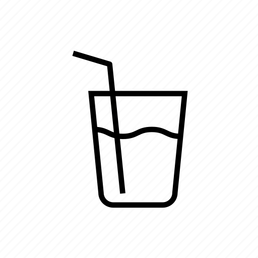 and, drink, food, glass, h2o, kitchen, outline, water icon