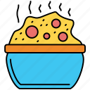 asian, bowl, chopsticks, noodles, restaurant, rice, sushi icon