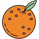 fitness, fruit, healthy, orange, slice icon