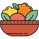cooking, eco, flower, leaf, meal, salad icon