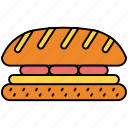 burger, cooking, hamburger, meal, sandwich icon