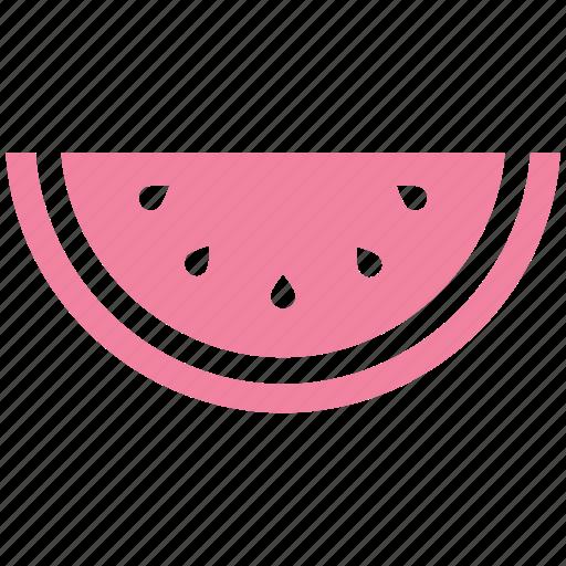 fruit, fruit slice, piece, seeds, tropical, watermelon icon