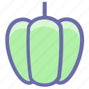 bell pepper, bulgarian, food, pepper, salad, sweet, vegetable icon