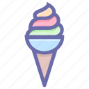 cold, cone, dessert, food, ice cone, ice cream, ice cream cone icon