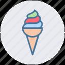 cold, cone, dessert, food, ice cone, ice cream, ice cream cone icon