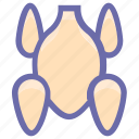 broasted chicken, chicken, food, hot wings, meat, roast, roasted chicken icon