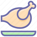 broasted chicken, chicken, hot wings, meat, roast, roasted chicken icon