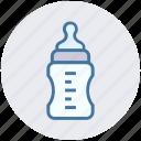 baby bottle, baby feeder, children, feeding bottle, milk, toddler bottle icon