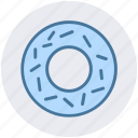 biscuit, breakfast, cookie, donut, eating, food, sweet icon