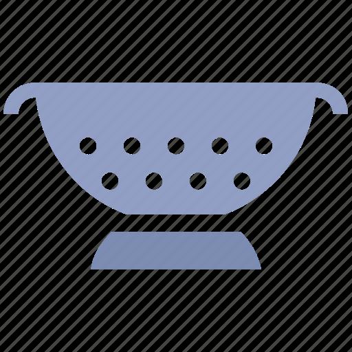 Colander, food drainer, food strainer, kitchen, kitchen sieve, rice strainer, sieve icon - Download on Iconfinder