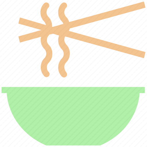 bowl, chinese, chinese food, eating, food, noodles, sticks icon