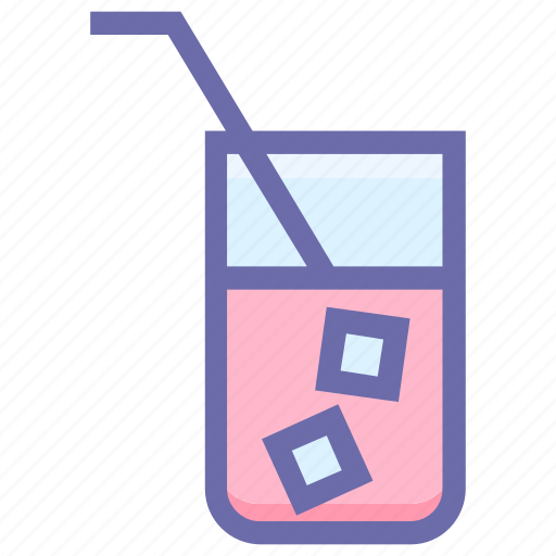 cold drink, glass, ice, straw, water, water glass, wine icon