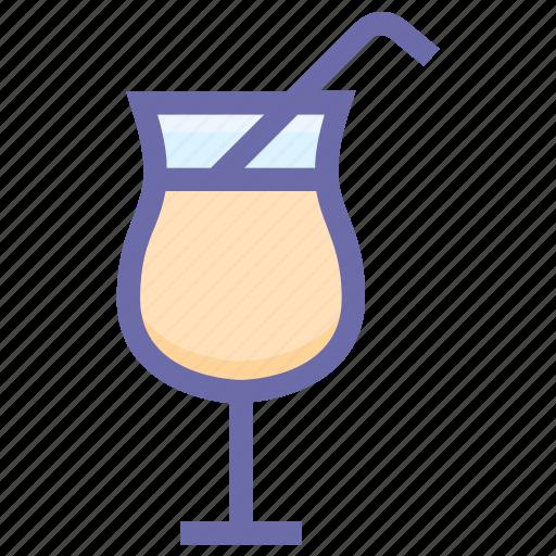 drink, healthy drink, orange juice, soft drink, straw, summer drink icon