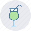 drink, healthy drink, orange juice, soft drink, straw, summer drink icon