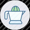 citrus juices, jug, kitchen, kitchenware, lemon, squeezer, utensil icon