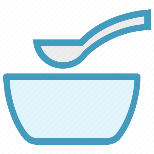 Bowl, food, hot food, hot soup, snack, soup, spoon icon - Download on Iconfinder