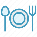 eating, flatware, fork, plate, spoons set, tableware, utensil