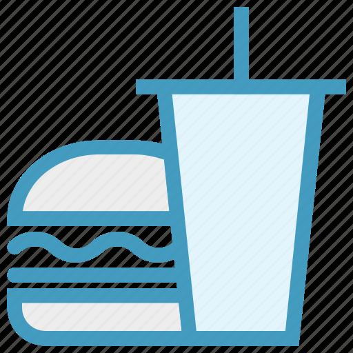 Beverage, breakfast, burger, coke, drink, drink and burger, food icon - Download on Iconfinder