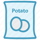 food, potato, potato bag, potato pack, potato sack, sack, vegetable icon