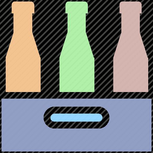 beer, beer bottles, drinking, drinks, wine, wine bottles, wine pallet icon