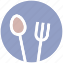 eating, flatware, fork, plate, spoons set, tableware, utensil icon