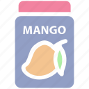 breakfast, food, jam, jar, jar of jam, mango flavor, mango jam icon