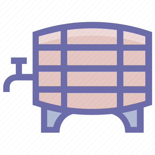 barrel, container, container for liquid, drum, firkin, water cask, water tank icon