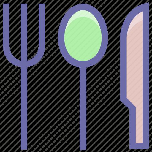 eating, flatware, fork, knife, spoons set, tableware, utensil icon