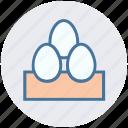 breakfast, easter, egg, eggs, food, gastronomy, spring icon