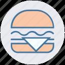 burger, cheeseburger, eating, fast food, food, hamburger, snack icon