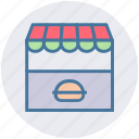 building, food, food market, kiosk, market, shop, store icon