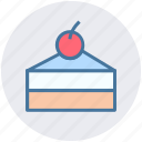 cake, cake piece, cake slice, dessert, food, fresh cake, sweet icon