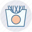fast food, food, french, fries, fries box, lunch, potato icon