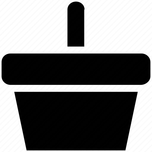 basket, bucket, food basket, fruit bucket, hotel basket, pail, shopping basket icon
