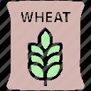 bag, flour, food, grain, wheat, wheat bag, wheat sack