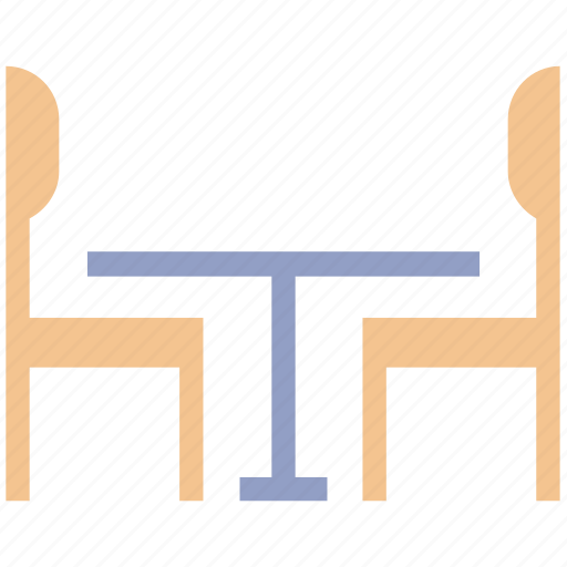 beach chair, chairs, dining desk, dining table, table and chairs icon