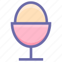 boiled, egg, egg cup, egg holder, egg server, egg storage, food icon