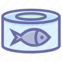 box, fish, fish food, food, metal cans, preservation