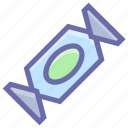 bonbon, candy, sugar, sweet, toffee, treat, wrapper icon