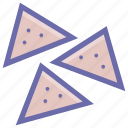baked, dish, food, fried, fried pastry, samosa, snacks icon